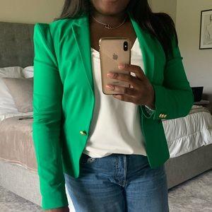 Zara blazer-green with gold buttons